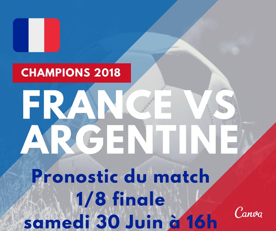 Pronostic du 8i me de finale coupe du monde de football france argentine samedi 30 juin - Pronostic coupe de france ...